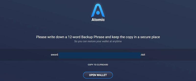 آموزش کیف پول اتمیک (Atomic Wallet)